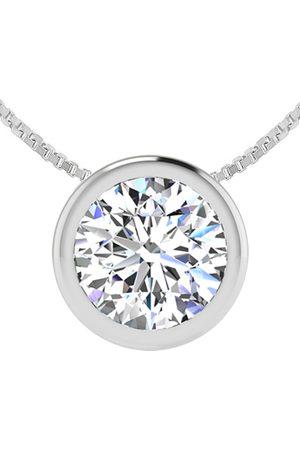SuperJeweler 1.5 Carat Bezel Set Diamond Solitaire Necklace in 14K (2.70 g)