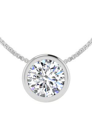 SuperJeweler 3/4 Carat Bezel Set Diamond Solitaire Necklace in 14K (2.5 g)