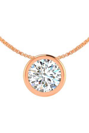 SuperJeweler 1/2 Carat Bezel Set Diamond Solitaire Necklace in 14K (2.5 g)