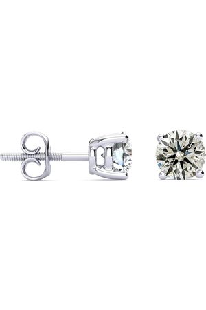 SuperJeweler 1.50 Carat Diamond Stud Earrings in 14K Basket Setting (