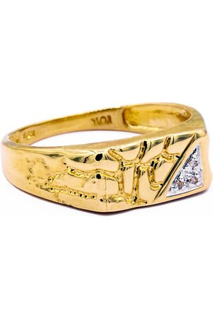SuperJeweler & Diamond Men's Nugget Ring