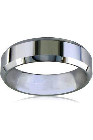 SuperJeweler 7mm Beveled Titanium Wedding Band by
