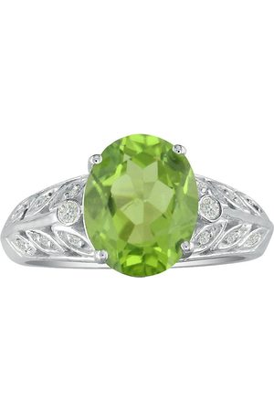 SuperJeweler 1 3/4 Carat Peridot & Diamond Ring in 14k