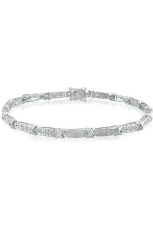 SuperJeweler 1/4 Carat Diamond Bracelet Crafted in Sterling
