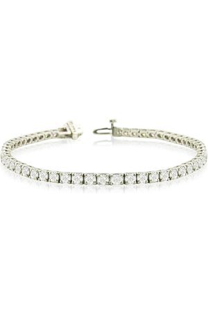 SuperJeweler 6 Inch 14K (9.6 g) 6 7/8 Carat TDW Round Diamond Tennis Bracelet (
