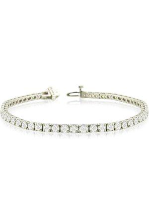 SuperJeweler 8 Inch 14K (12.8 g) 9 1/7 Carat TDW Round Diamond Tennis Bracelet (