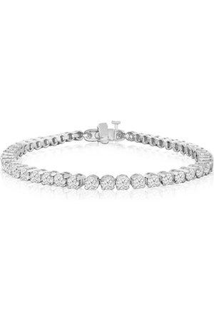 SuperJeweler 5 Carat Round Diamond Tennis Bracelet in 14K (13.3 g)