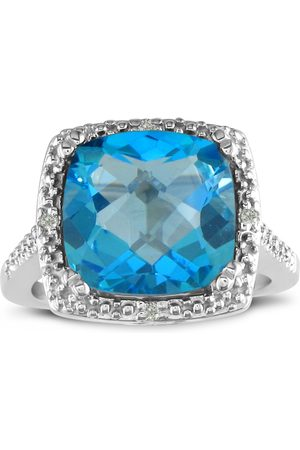 SuperJeweler 4 Carat Topaz & Diamond Ring