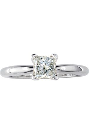 SuperJeweler 1/4 Carat Princess Cut Solitaire Diamond Promise Ring in 14K (