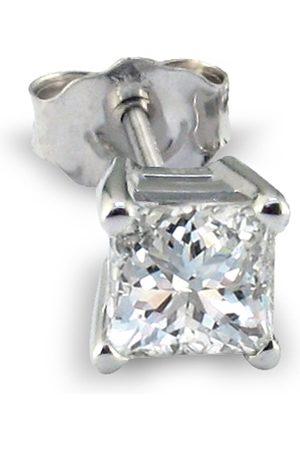 SuperJeweler 1/2 Carat Princess Cut Single Diamond Stud Earring in 14k (1 g)
