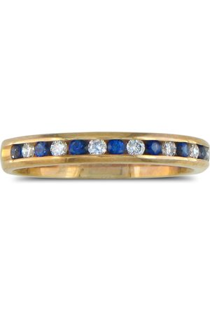 SuperJeweler Women Rings - 1/4 Carat Sapphire & Diamond Channel Set Band