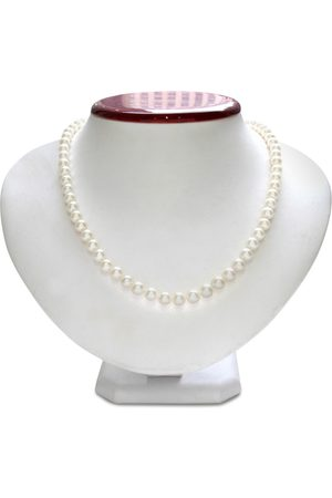 SuperJeweler Women Necklaces - 6mm AA Hand Knotted Pearl Necklace