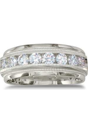 SuperJeweler Heavy Men's Wedding Band w/ 1 Carat Channel Set Diamonds