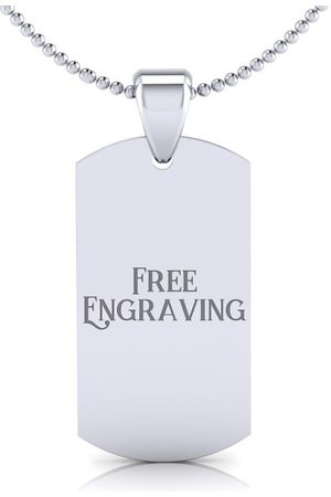SuperJeweler Women Necklaces - Dog Tag w/ Free Custom Engraving