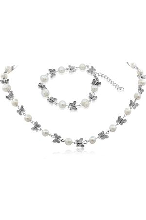 SuperJeweler Butterfly & Pearl Necklace & Set
