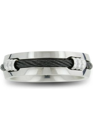 SuperJeweler 7mm Men's Titanium Wedding Band Ring w/ Carbon Fiber Rope by