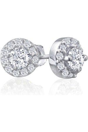 SuperJeweler 1/4 Carat Diamond Stud Earrings w/ Pave Diamonds in (1.5 g)