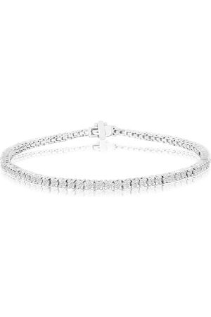 SuperJeweler 2 Carat Genuine Diamond Tennis Bracelet in 14K (8.4 g)