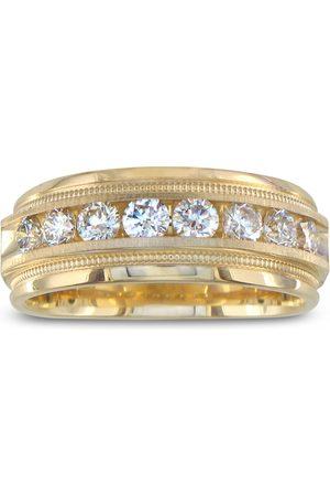 SuperJeweler Men Rings - Heavy Men's Wedding Band w/ 1 Carat Channel Set Diamond Yellow Golds