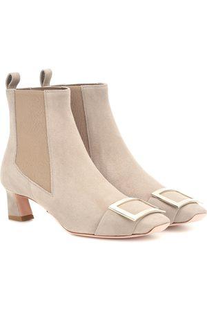 Roger Vivier Women Ankle Boots - Chelsea Trompette suede ankle boots