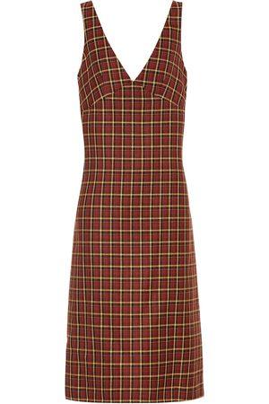 Plan C Women Midi Dresses - Checked wool midi dress