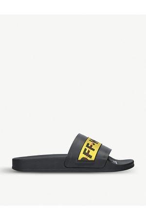 OFF-WHITE Sandals - Logo-appliquéd rubber sliders