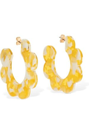 VALET STUDIO Maritza Flower Hoop Earrings