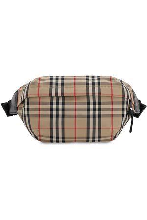 Burberry Men Bags - Check Cotton Blend Sonny Belt Bag