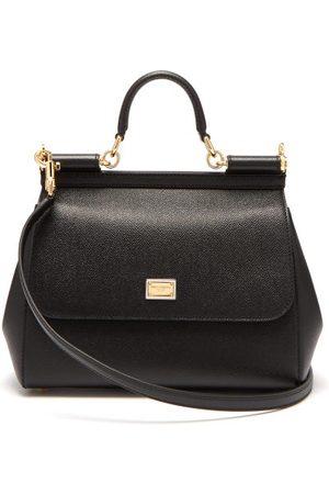 Dolce & Gabbana Sicily Medium Grained Leather Bag - Womens