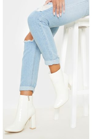 PRETTYLITTLETHING Croc Behati Ankle Boot