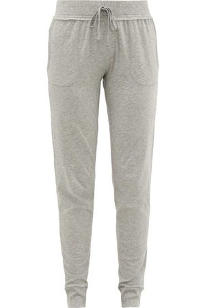 SKIN Women Sweatpants - Pima-cotton Track Pants - Womens - Light Grey