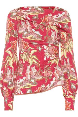 Peter Pilotto Asymmetrical printed blouse