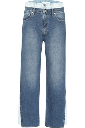 Maison Margiela Women High Waisted - Layered high-rise cropped jeans