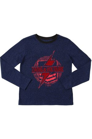 Zadig & Voltaire Flocked Logo L/s Cotton Jersey T-shirt
