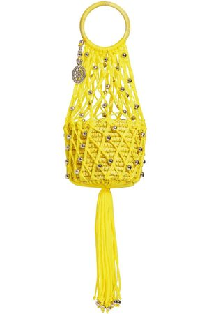 SENSI STUDIO Mini Straw & Cord Handbag