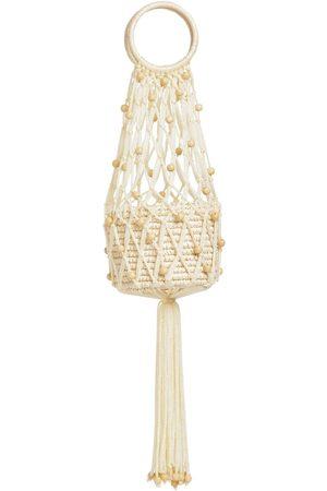 SENSI STUDIO Mini Straw & Cord Handbag
