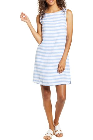 Beachlunchlounge Women's Alina Stripe Linen & Cotton Shift Dress