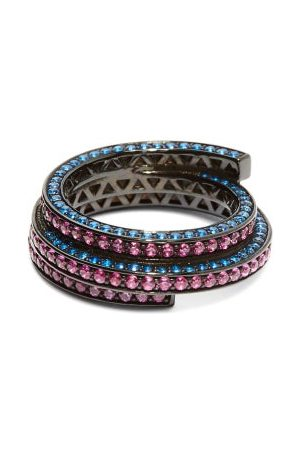 Lynn Ban Sonic Lab Sapphire & Rhodium Plated Ring - Womens