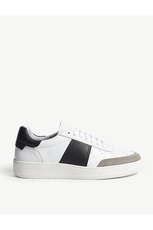 Sandro Magic leather and suede trainers