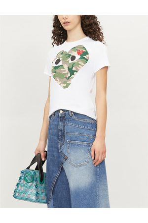 Comme des Garçons Big heart camouflage cotton-jersey T-shirt