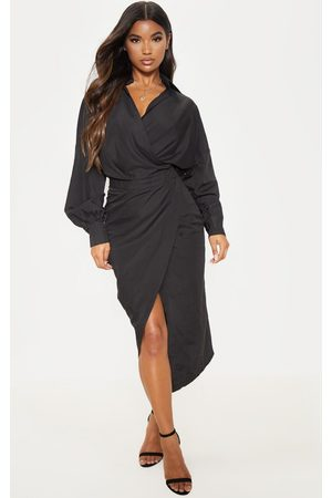 PRETTYLITTLETHING Midi Shirt Dress