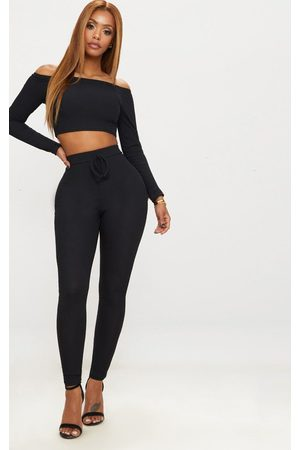 PRETTYLITTLETHING Shape Ribbed High Waist Leggings