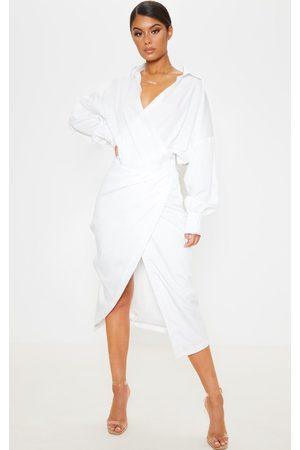 PRETTYLITTLETHING Midi Shirt Dress