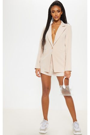 PRETTYLITTLETHING Stone Suit Short