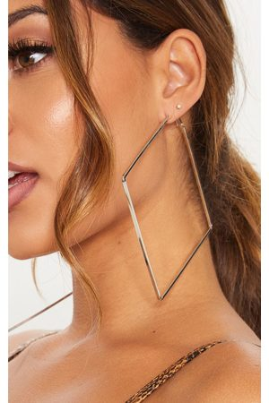 PRETTYLITTLETHING Square Large Hoop Earring