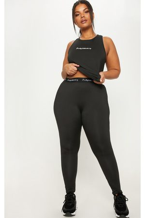 PRETTYLITTLETHING Plus Elasticated Band Leggings
