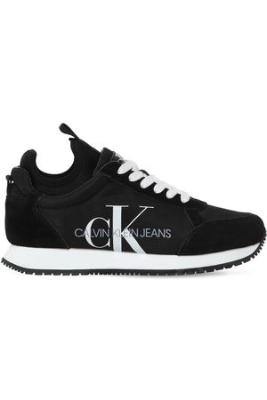 Calvin Klein 20mm Josslyn Nylon & Suede Sneakers