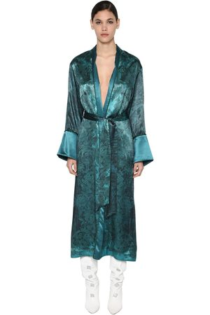 F.R.S For Restless Sleepers Long Printed Cupro & Viscose Dust Coat