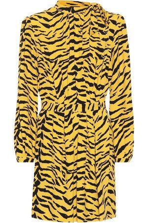 Saint Laurent Tiger crêpe minidress