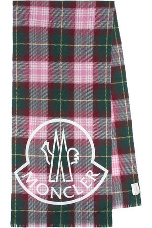 Moncler Checked wool-blend scarf